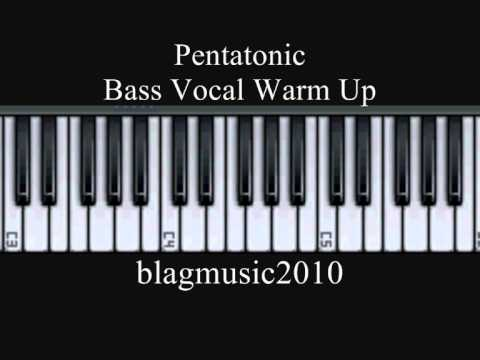 Pentatonic Scale Bass Vocal Warm Up Exercise 1 121 12321