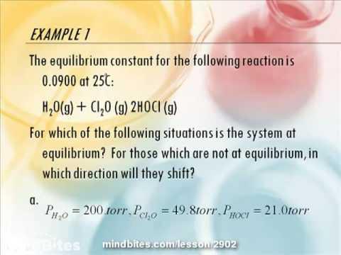 AP Chemistry Equilibrium Part 2