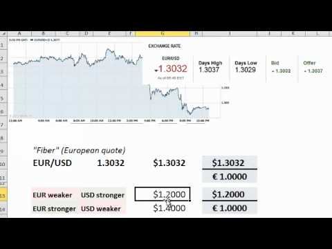 How to read a spot foreign exchange (FX) rate