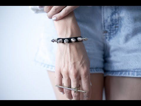 DIY studded leather bracelet with tassel  ✝  fashion tutorial