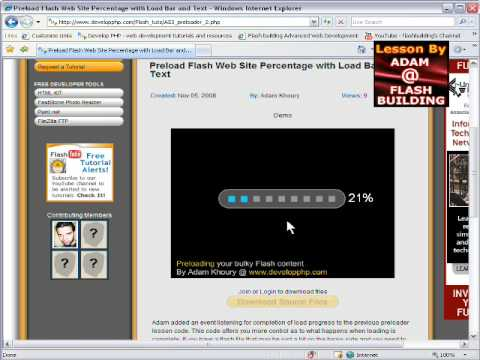 Preload Flash Web Site Percentage with Load Bar and Text