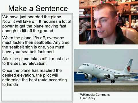 Learn English Make a Sentence and Pronunciation Lesson 125:Takeoff