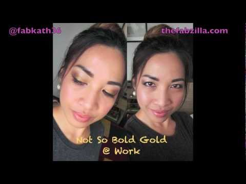 Quick FOTD | Not So Bold Gold At Work (All-Drugstore)