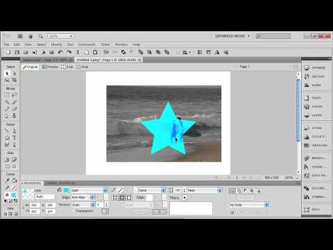 Total Training for Adobe Fireworks CS5  Ch11 L2.  Applying Blend Modes in the Properties Inspector