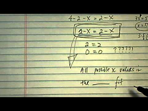 Infinite Solution: solve 4 - (2 + x) = 2 - x