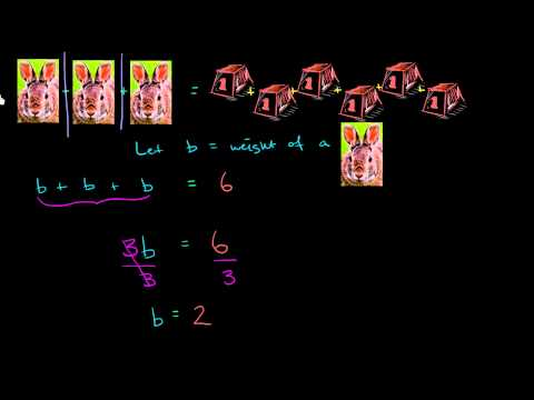 Solving equations with multiplication