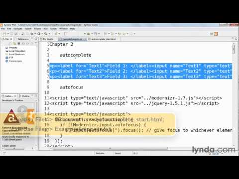 How to use the autocomplete attribute | lynda.com tutorial