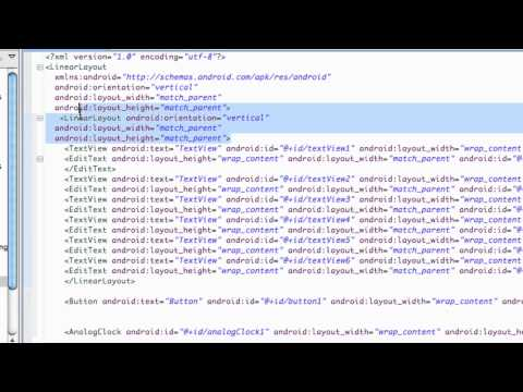 Android Application Development Tutorial - 35 - XML ScrollView and AnalogClock