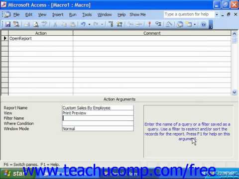 Access 2003 Tutorial Creating and Using Macros Microsoft Training Lesson 17.1