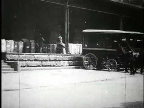 Wagons loading mail, U.S Post Office