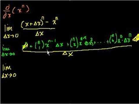 Proof: d/dx(x^n)