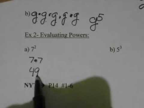 Course 2  Lesson 1.3 Powers and Exponents