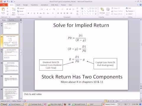 Excel Finance Class 66: Calculate Implied Return using Dividend Growth Model