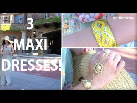 JUSTIN & APRIL OOTD,MAXI DRESSES, 3 STYLES! Kate Spade, Michael Kors, Dolce Vita ✿