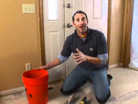 How to Lay a Tile Floor-DIY