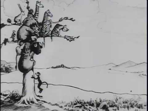 Cartoon: Theodore Roosevelts Arrival in Africa