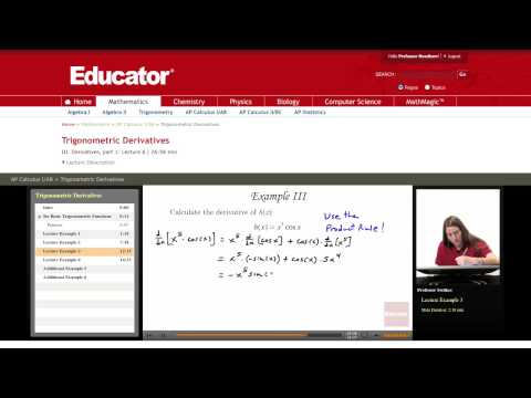Calculus: Trigonometric Derivatives