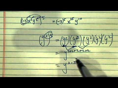 *Simplify Exponents:(-3x^3y^2)^5