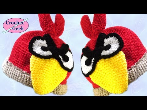 Crochet Geek -  Grumpy Bird Cardinal Crochet Hat