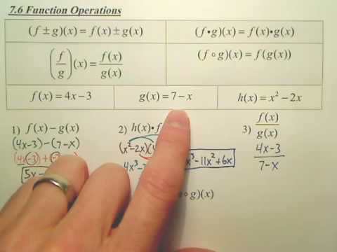 Algebra 2 7.6a