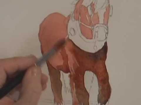 Watercolor Animals Part 1 - How To Paint a Horse