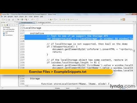 How to use client-side local storage   lynda.com tutorial