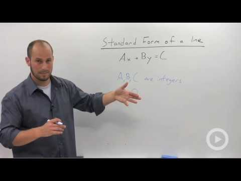 Algebra 2 - Standard Form of a Line