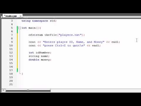 Buckys C++ Programming Tutorials - 66 - Writing Custom File Structures