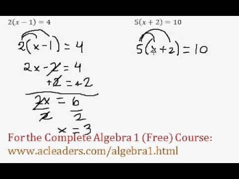 Multi-Step Equations (Algebra Review) - Worked Example