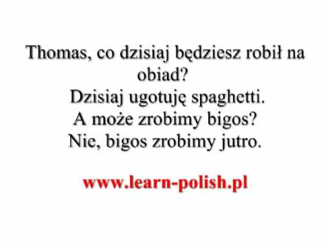 Expressing future in Polish. Sprachkurs Polen