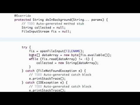 Android Application Development Tutorial - 103 - ProgressDialog and Correction
