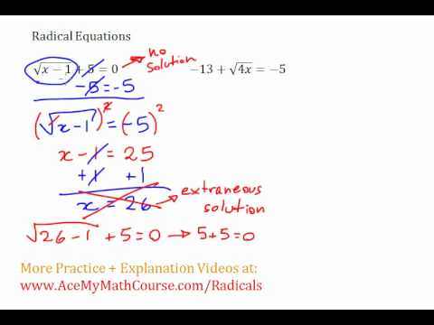 Radical Equations #3-4