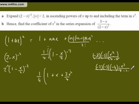 (c) Binomial Expansion Core 4 Exam Question 3 (reciprocals)
