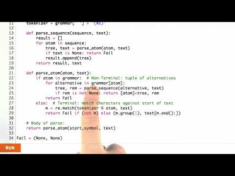 Parse function - CS212 Unit 3 - Udacity