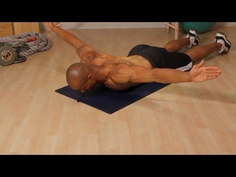 Prone Shoulder Stabilization Series: T Pose   Home Back Workout for Men