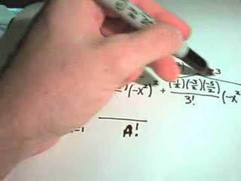 The Binomial Series - Example 2