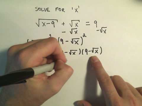 Solving an Equation Containing Two Radicals - Example 1