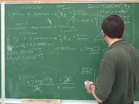 Nuclear chemistry. Binding energy (6)