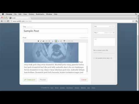 Tumblr: Creating simple text posts | lynda.com tutorial
