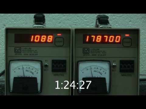 Radioactive Half-life Experiment - Part 2 - Collect the Data! - Data Run 4