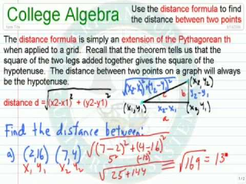 Use the Distance Formula Between Two Points