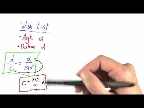 Relationship Angle and Circumference Solution  - Intro to Physics - Circumference of Earth - Udacity