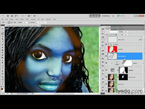 Photoshop: Making mask density and color adjustments | lynda.com tutorial