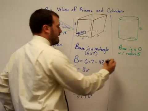 Volume of Prisms and Cylinders Examples