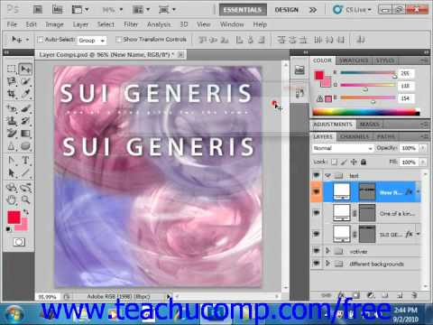 Photoshop CS5 Tutorial Common Layer Management Tasks Adobe Training Lesson 9.6