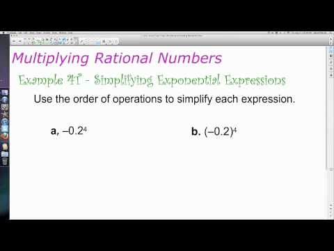 Unit 1 Lesson Topic 2 - Part 3 - A Review of Computation with Rational Numbers