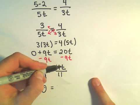 Solving a Basic Rational Equation - Ex 5