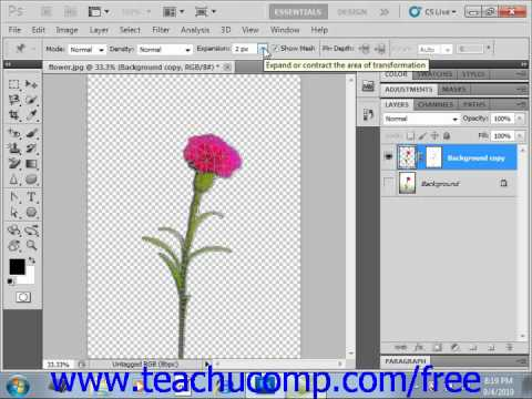 Photoshop CS5 Tutorial The Puppet Warp Tool Adobe Training Lesson 14.14