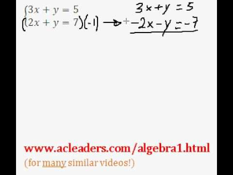 System of Equations - Solving by Addition (pt. 4)