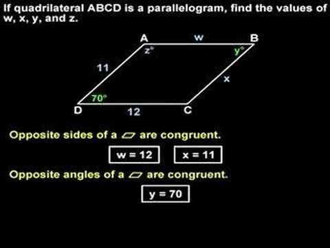Properties of a Parallelogram - YourTeacher.com - Geometry Help